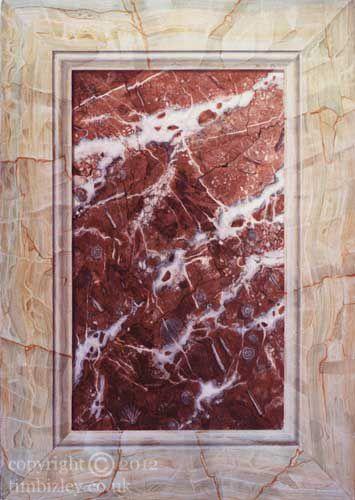 faux marbling trompe l'oeil panel onyx by Tim Bizley
