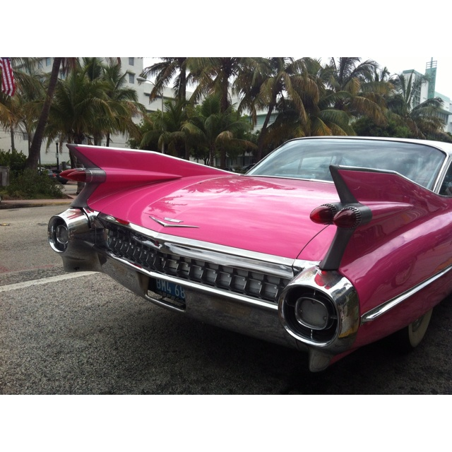 Pink Cadillac #classic #car #convertible #shiny #retro