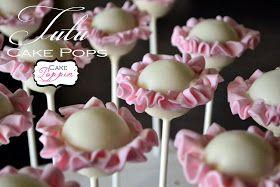 Ballerina Tutu Cake Pops.... cute baby shower or little girl party!