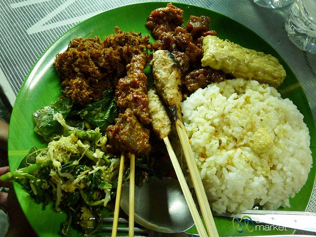 Plate of Nasi Campur - Sanur, Bali by uncorneredmarket, via Flickr