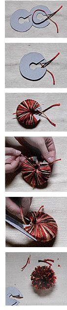 yarn pom-pom template...