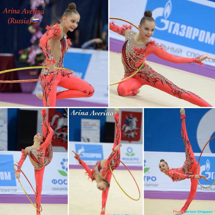 Arina AVERINA (Russia)🇷🇺 ~ Collage Hoop Routine @ GP Moscow 02/2017🇷🇺 ❤️❤️  Photographer 🇷🇺Artem Shapaev.