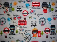 Flannel fabric London England Big Ben Girl bus quilt sewing material craft BTY #cottonquiltfabric #flannelquiltfabric #cottonsewingfabric #flannelsewingfabric #fabricbytheyard #cottonfabricprint #quiltersfabric #fabricholic #ilovequilting #ilovesewing #ebay