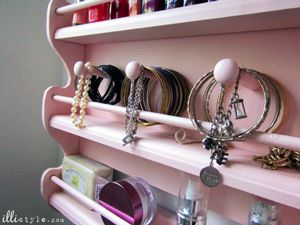 Spice Rack to Jewelry Holder DIY tutorial. Brilliant! #organization #cbias