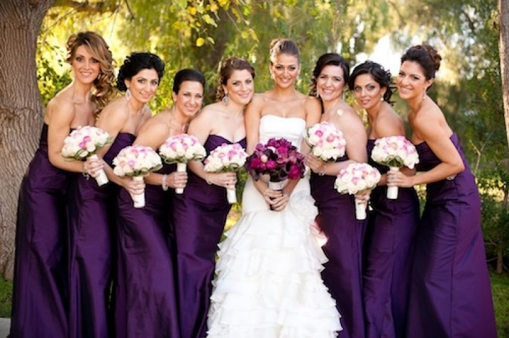 Deep Purple Wedding Dresses : Deep purple long bridesmaid dresses wedding ideas