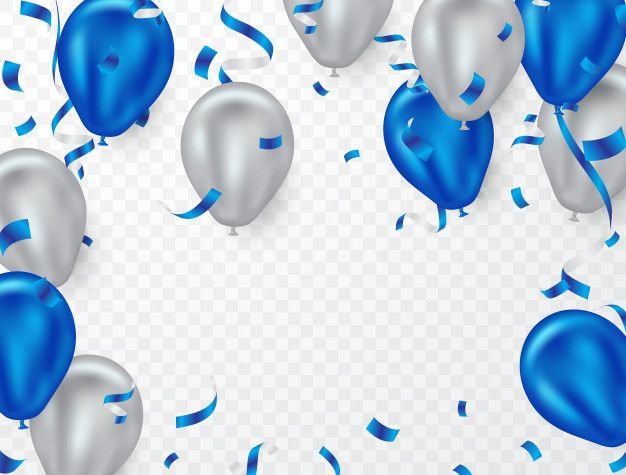 Blue And White Helium Balloon Background For Party Balloon Background Balloons Confetti Background