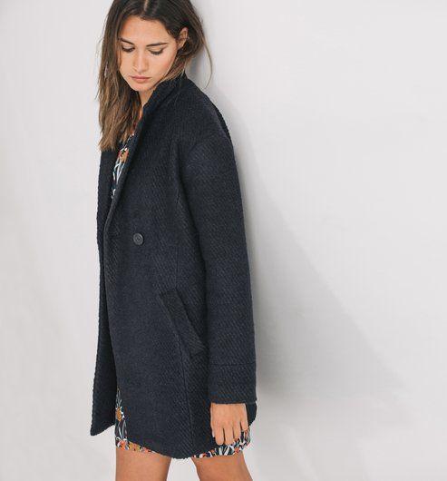 Les 25 meilleures id es de la cat gorie manteau femme tweed sur pinterest tenue cardigan en - Manteau coupe masculine pour femme ...