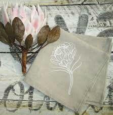Protea embroidery