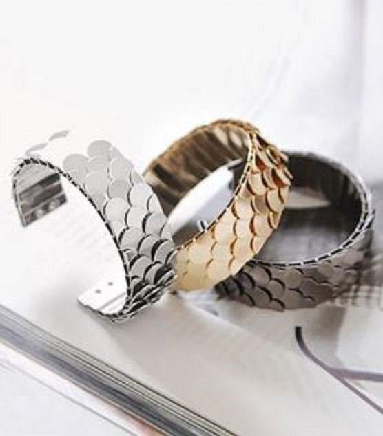 Love these Mermaid Bracelets! Beach Style Fashion! Mermaid Fish Scale Embellished Ringent Bracelet