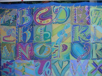 Silks and Art by Jill - patchwork alphabet silks