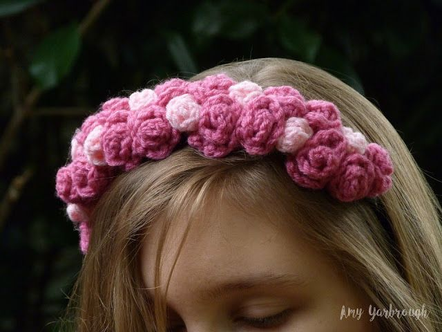 Ginger Peachy: Colleen Floral Headband | New Crochet Pattern