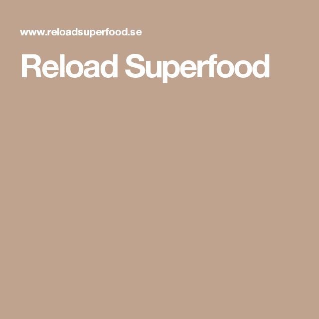 Reload Superfood