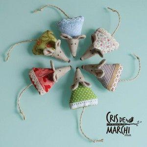 I topolini profuma biancheria di CrisdeMarchi Atelier – Cucire a Macchina.com - DIY tutorial gratis