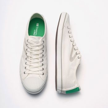 Summer Look: Tretorn - - Shoes - Skymra SL Canvas. about $60. Tretorn is committed to using eco-friendly materials, and they also are committed to humane working conditions for their employees.