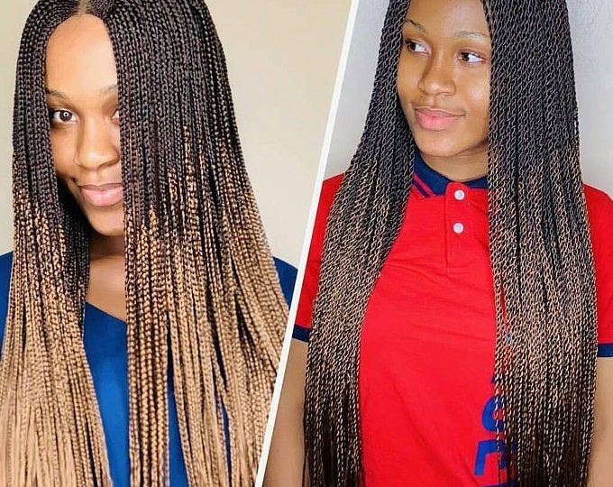 Braided Wigs Lace Front Braids Wig Senegalese Twist Micro Etsy Braids Wig Lace Wigs Lace Front Wigs