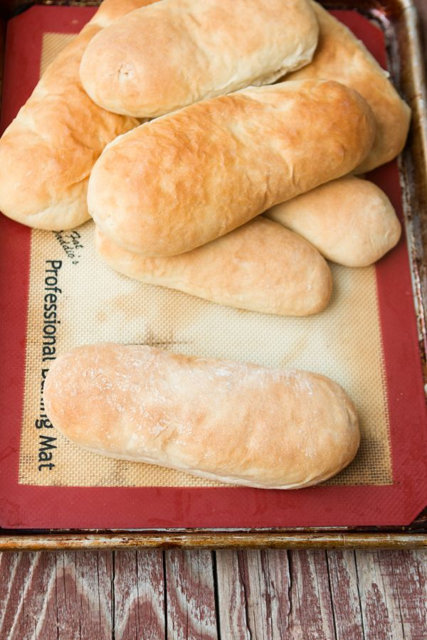 Easy hoagie rolls recipe! And it's all done in a mixer so no need to knead! @ohsweetbasil