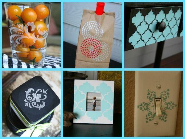 martha stewart stencil crafts- Today's Creative Blog