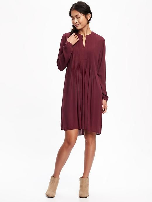 Pintuck swing dress Perfect for fall with leggings and booties!