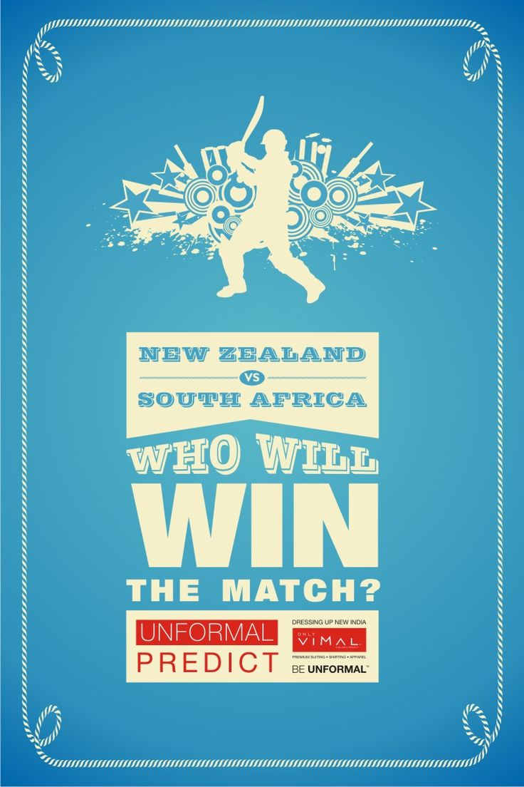 Tomorrow at #Auckland, #Newzealand plays against #SouthAfrica.Predict & tell us which team will #win the match. #UnformalCricket2015 #contest