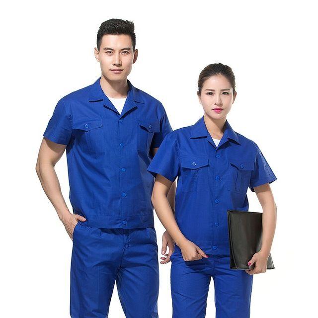 Welding Worker Coveralls Machinist Clothing Gas station overalls Unisex Work Wear 4S Car Auto Shop Uniform