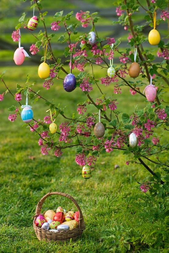 Si vous avez la chance d'avoir un jardin, profitez-en pour lui donner plus qu'un air de printemps ! Décorez les arbres, les fleurs et faites vivre Pâques pendant toute une journée.