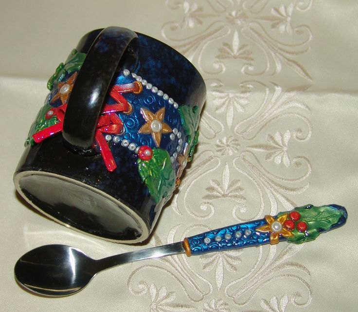 https://flic.kr/p/dzuCmk | Dark Blue Festive Mug - Spoon