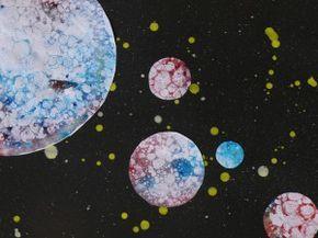 Stránky pro tvořivé - malé i velké - Netradiční postupy - Vybublané planety