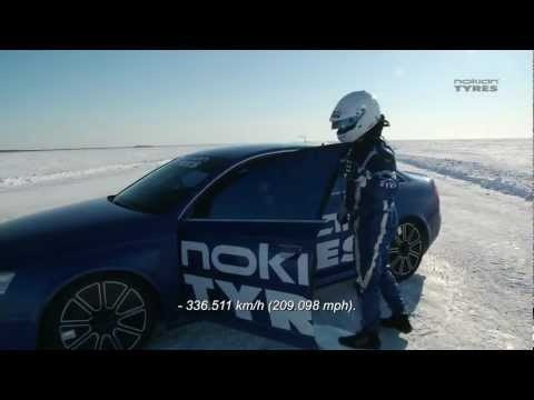 Nokian Tyres Audi RS6 – 335.7 km/h on ice [video]