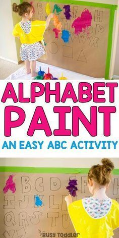 Easy Alphabet Painting Activity: a quick and easy alphabet activity!