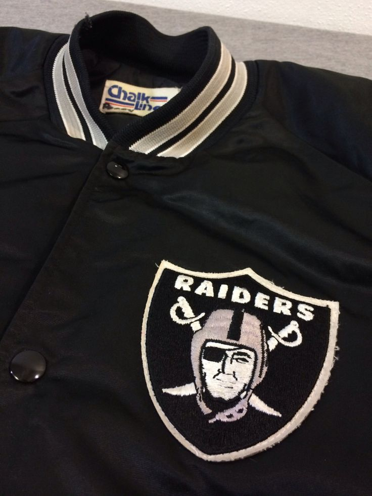 Vintage RAIDERS Jacket 80's/ Chalk Line LA Raiders OAKLAND Satin Sewn Patch Quilted Coat/ NfL Football UsA Rare X-Large by sweetVTGtshirt on Etsy