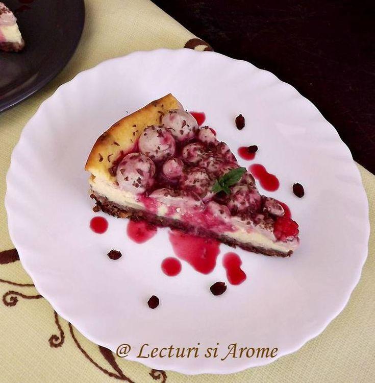 Cheesecake cu agrise si mousse de mascarpone