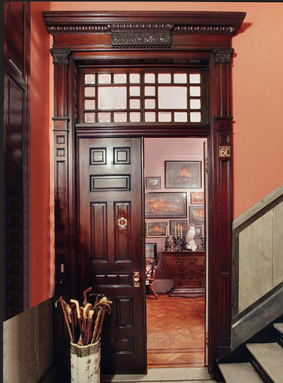New York Upper West Side brownstone Victorian interior
