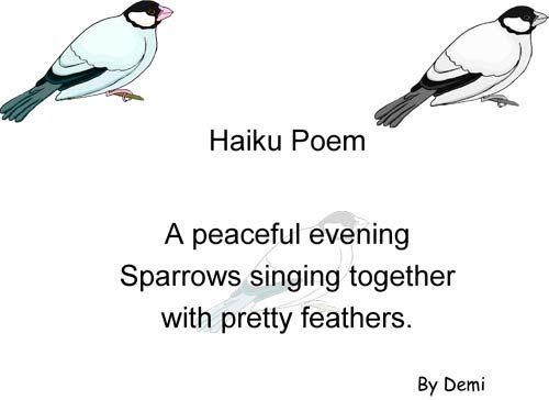 Haiku Poems Examples | Exandles Haiku Poems For...
