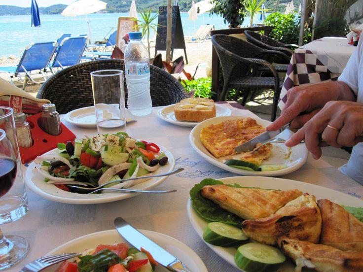 Lunch, Moraitika Beach, Corfu