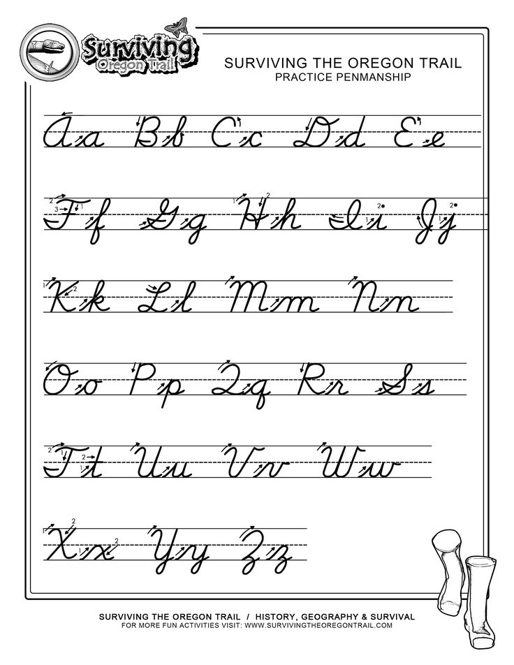 Free Print Alphabet Letter Worksheets | ... – FREE ABC's Printable Cursive Writing Worksheet – X-Large