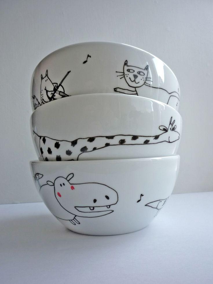 Bowls redondos animales. $115.000 c/u, envío no incluid0