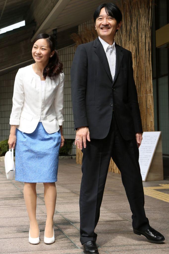 秋篠宮文仁(あきしのみやふみひと)親王殿下と秋篠宮佳子(あきしのみやかこ)内親王殿下 Princess Kako with father, Prince Akishino