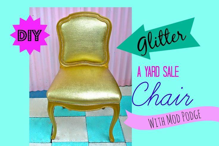 How to glitter Furniture! Chalk Paint, Modge Podge, Martha Stewart Craft Glitter