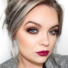 Makeup Geek Eyeshadows in Mocha and Peach Smoothie + Makeup Geek Pigment in Utopia. Look by: Brianna Fox
