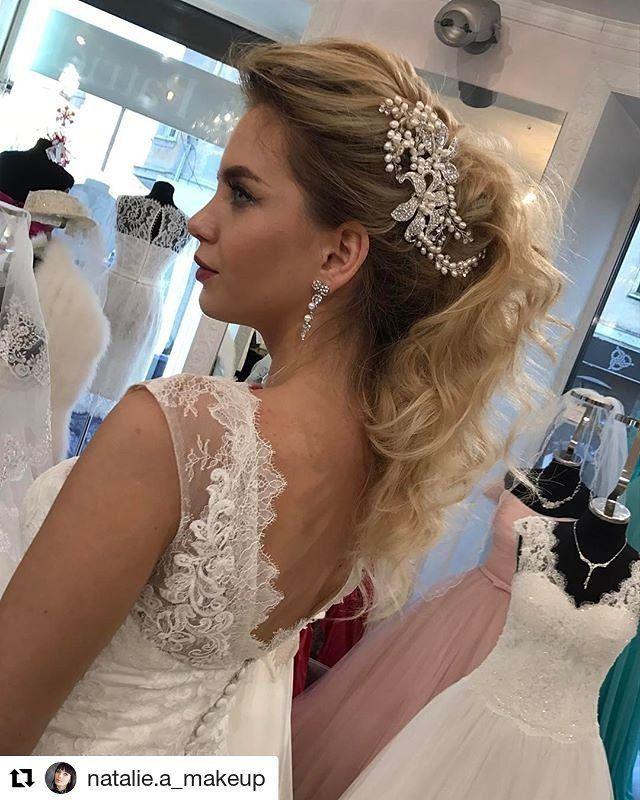 """������ Творим) @natalie.a_makeup (@get_repost) ・・・ Элегантный образ невесты в рамках рубрики """"Примерка"""" для журнала @supersvadba39 #wedding#weddingmua#weddinghair#weddingstyle#weddingmakeup#mua#muah#makeup#makeuptutorial#photo#макияж#макмяжнасвадьбу#стилисткалининград http://gelinshop.com/ipost/1524202946773035915/?code=BUnDoEoAquL"""