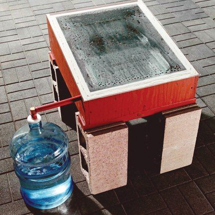 Water free of chemicals and minerals is vital all around the home and homestead, and with basic tools, some inexpensive building materials and a sheet of glass, you can snag some of the sun's strength to purify your water. See this thrifty DIY solar water distiller design and get the step-by-step photos and instructions to help you build one of your own: