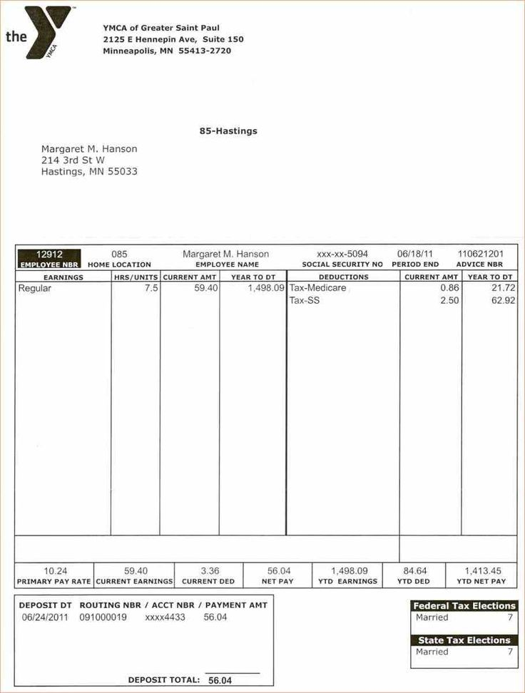 Best Pay Stub Template Word Images On   Resume