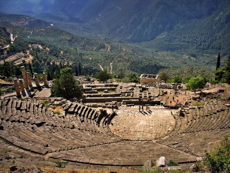 Delphi Theatre - an ancient temple and the most important place in the ancient Greek religion, built on a hill and was originally designed ...