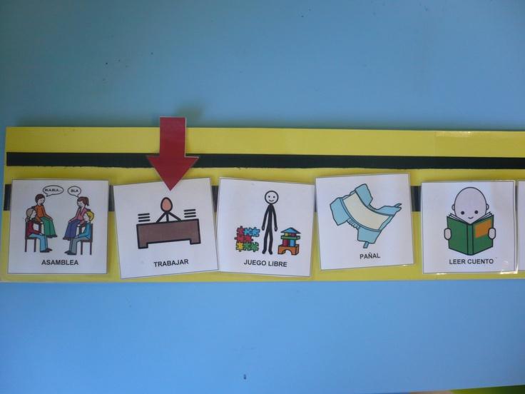 Anticipar las actividades de un día en la escuela infantil.