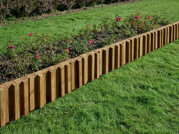 Bordure m tis en pin classe 4 bois durapin all es for Amenagement jardin bordure