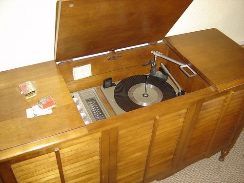 Vintage Record Players Stereo Console My Parents Had