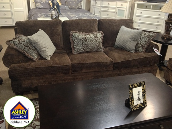 Crawford chocolate sofa at ashley furniture in for Couch 0 interest