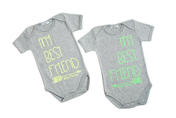 Twin Onesies my Best Friend by myTwinsCollection on Etsy