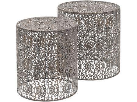 Artisanti  Caprio Metal Mesh Nesting Side Tables