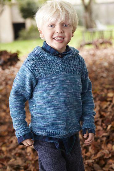 Kinderen trui met een kap, S9051 |  Schachenmayr